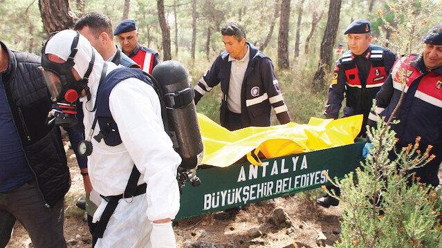 Ceset incelenmek üzere adli tıp Antalya Adli Tıp Kurumu'nun morguna gönderildi.