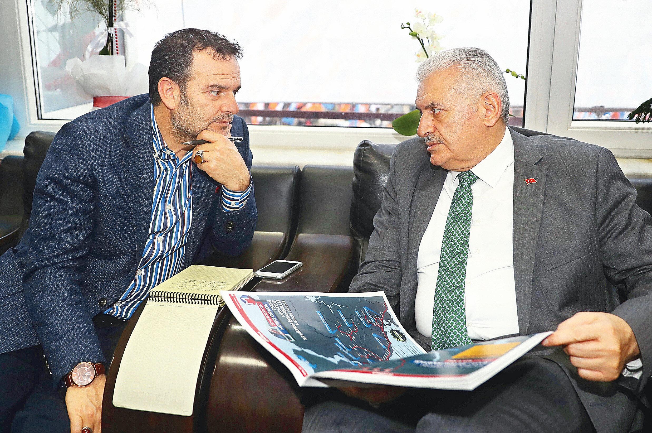 Kemal Öztürl (Solda) ve Binali Yıldırım (Sağda)