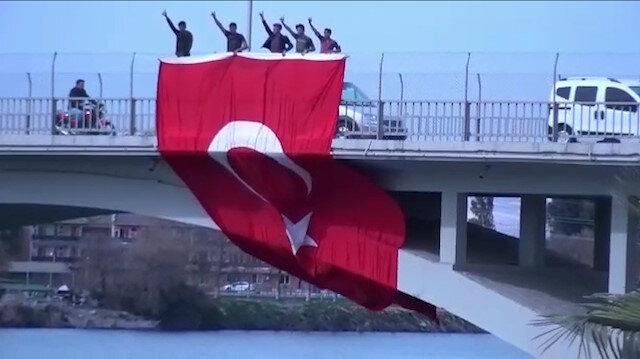 Şanlıurfalı vatandaşlardan İstiklal Marşı videosu