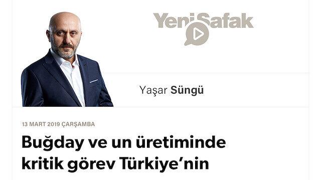 Buğday ve un üretiminde kritik görev Türkiye'nin