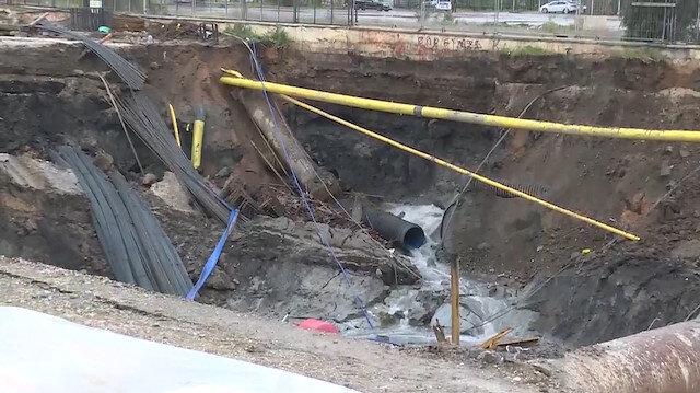 İzmirde metro inşaatında göçük meydana geldi