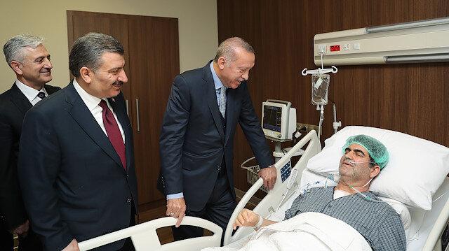 Erdoğan Ankara Şehir Hastanesinde hastaları ziyaret etti