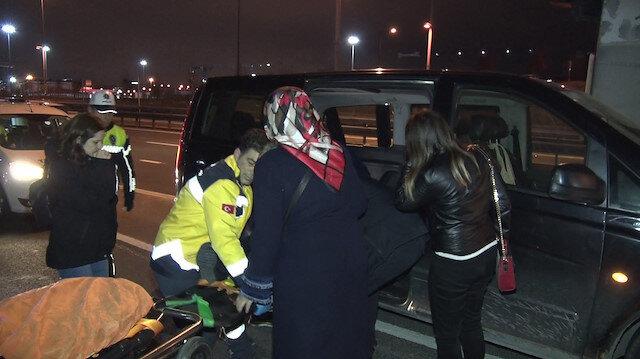 Alkollü UBER sürücüsü bariyere çarparak bir yolcuyu yaraladı