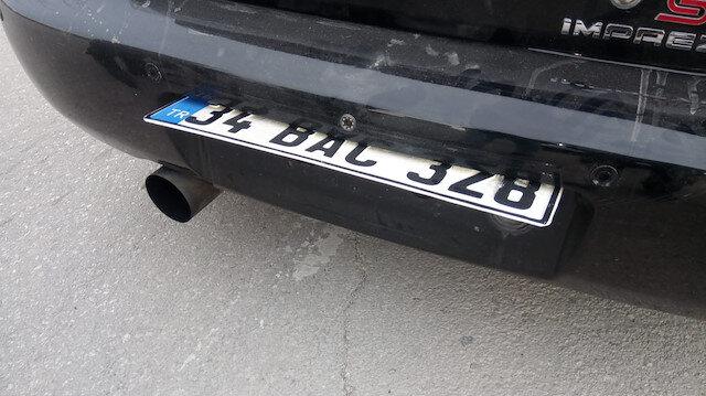 Özel sistemle oynar plaka yaptıran sürücüden skandal savunma