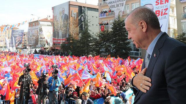 Recep Tayyip Erdoğan, Yeni Mahalle mitinginde halka hitap etti.