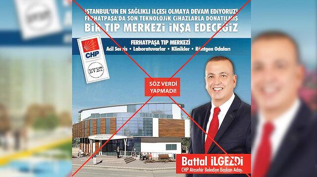 Battal İlgezdi 30 Mart 2014 yerel seçimleri öncesinde geçekleştirmeyi vaat ettiği birçok projeyi hayata geçirmedi.