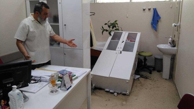 Genel Cerrahi Uzmanı Opr. Dr. Mehmet Öncel'in odasının saldırı sonrası hali.
