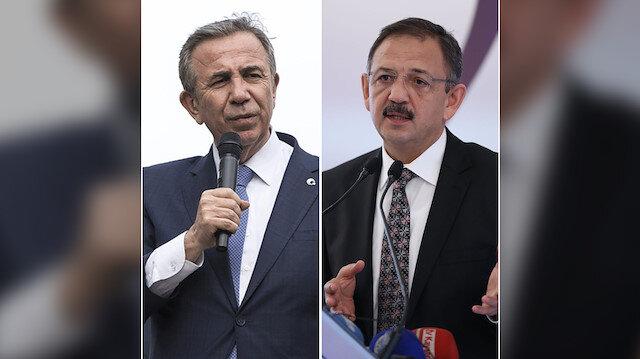Mansur Yavaş ve Mehmet Özhaseki.