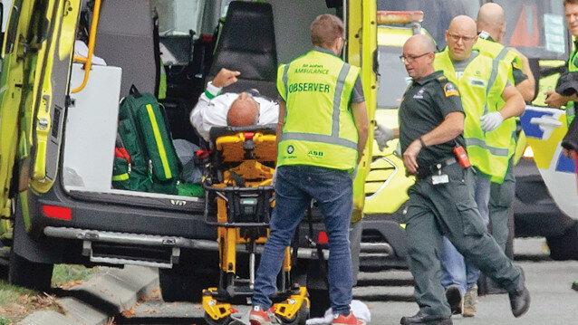 Terör saldırsında yaralananlar hastaneye kaldırıldı.
