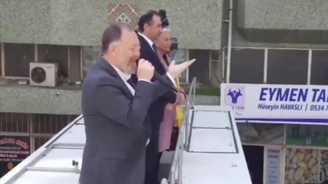 HDPli Sezai Temelli konuşurken arkada bir ses: Ey şanlı ordu ey şanlı asker