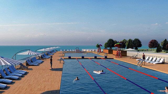 Tarihi yarımadaya deniz havuzu projesi.