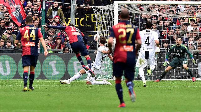 Genoa Juventus'un yenilmezlik serisine son verdi