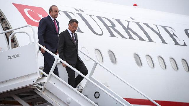 Cumhurbaşkanı Yardımcısı Fuat Oktay ve Dışişleri Bakanı Mevlüt Çavuşoğlu.