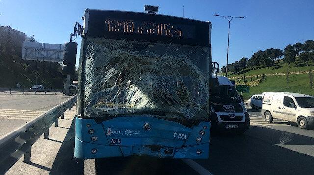 TEM Otoyolu FSM Köprüsü girişinde kaza