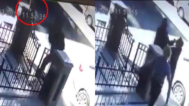 Kediyi tokatlayan adam, tepki gösteren kişiye saldırdı
