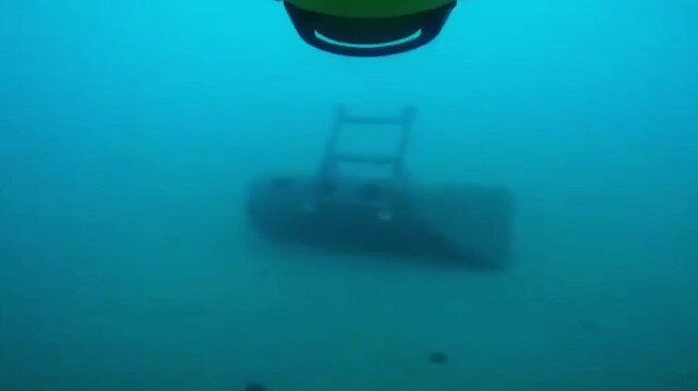 Avlama gemisi tatbikatta mayın tespit etti