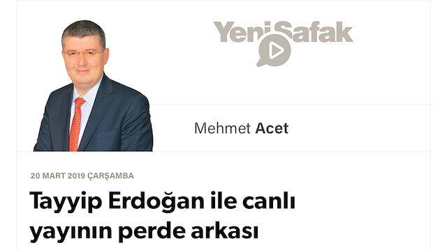 Tayyip Erdoğan ile canlı yayının perde arkası