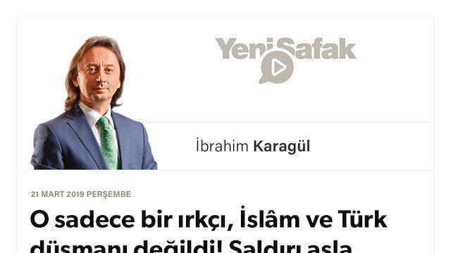* O sadece bir ırkçı, İslâm ve Türk düşmanı değildi! * Saldırı asla bireysel değildi, Katil de asla yalnız değildi.. * Ona Türkiye'yi hedef gösteren kim? Bizi Doğu'dan kuşatmaya çalışan kim?