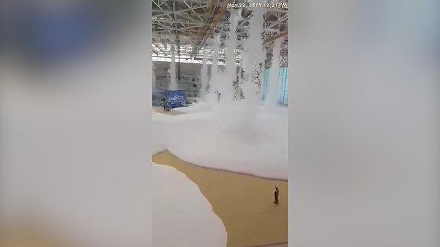 THY köpüklü yangın söndürme sistemini test etti