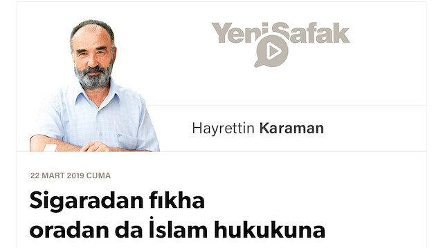 Sigaradan fıkha oradan da İslam hukukuna