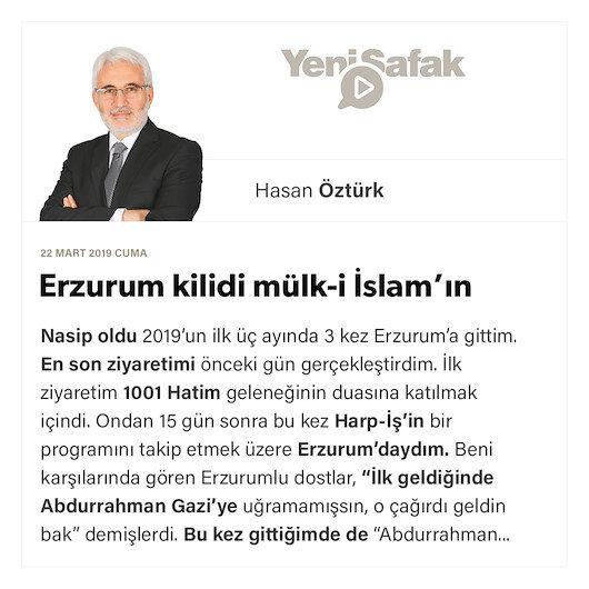 Erzurum kilidi mülk-i İslam'ın