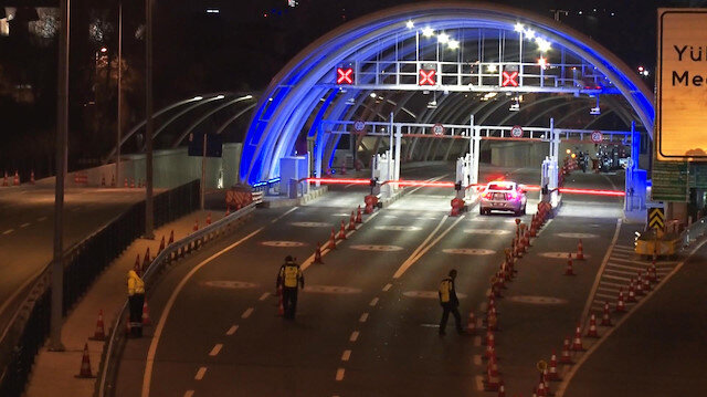 Avrasya Tüneli trafiğe kapandı