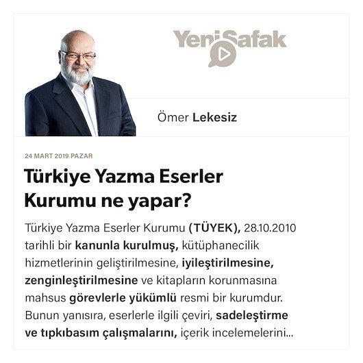 Türkiye Yazma Eserler Kurumu ne yapar?
