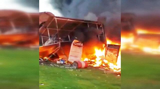 Eşine öfkelenen adam uçağıyla binaya çarptı