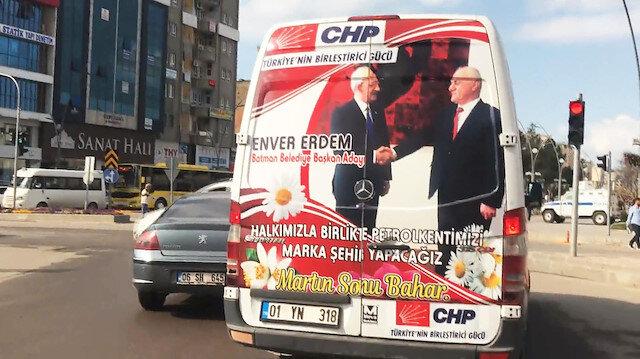 CHP Batman'da Demirtaş'ın sesiyle oy istiyor