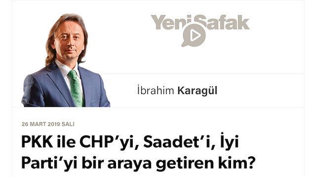 * PKK ile CHP'yi, Saadet'i, İyi Parti'yi bir araya getiren kim? * Şu an durdukları yerin bir adım sonrası Türkiye'yi felç etmektir. * Gelin bu ülkeyi yarı yolda bırakmayalım..
