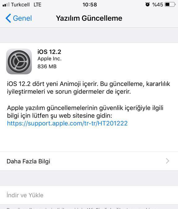 iphone yazılım güncelleme çok yavaş
