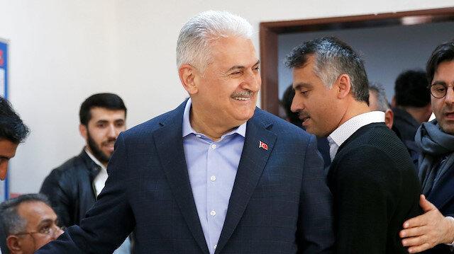 Binali Yildirim, mayoral candidate of the ruling AK Party