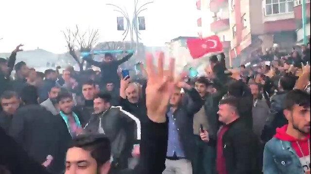 Şırnak'ta vatandaş sabahın ilk ışıklarına kadar seçim zaferini kutladı
