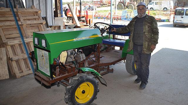 Tekirdağlı çiftçi 5 bin liraya kendi traktörünü yaptı