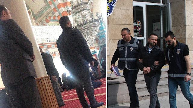 Saf tutan cezaevi firarisi polisin dikkati sayesinde cami çıkışı yakalandı.