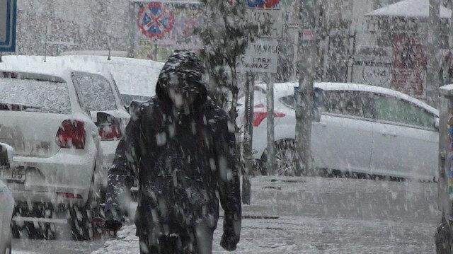 Ardahan'a lapa lapa kar yağıyor.