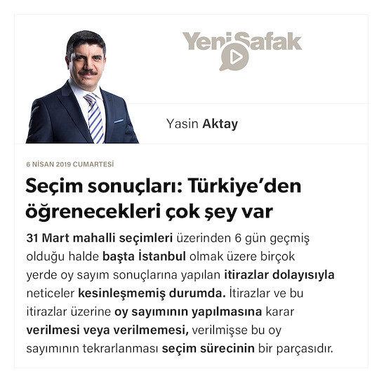 Seçim sonuçları: Türkiye'den öğrenecekleri çok şey var
