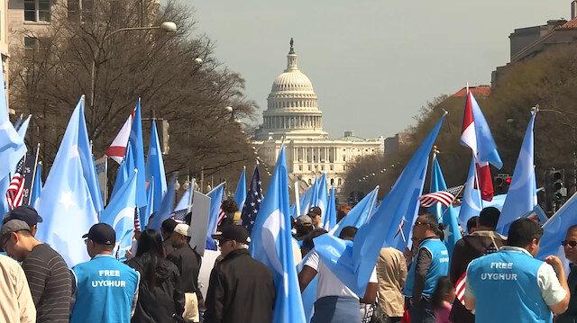 Washingtonda Uygurları Kurtarın yürüyüşü