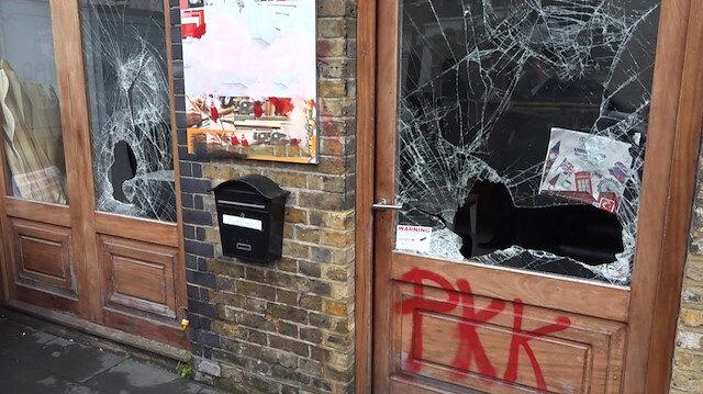 Londra'da PKK yandaşları Türk derneğine saldırdı