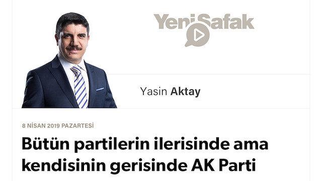 Bütün partilerin ilerisinde ama kendisinin gerisinde AK Parti