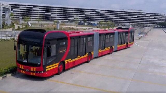 250 yolcu kapasiteli dünyanın en uzun otobüsü