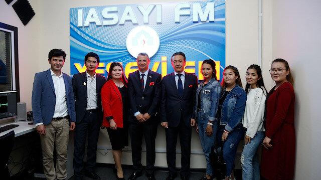 Ahmet Yesevi Üniversitesi radyosu Yesevi FM ve TV stüdyosu açıldı