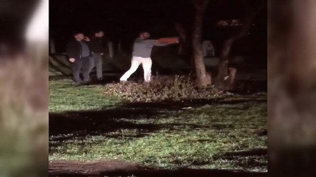 Piknikte ağacı elektrikli testereyle kesip yaktılar