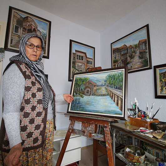 Inspiring 63-year-old Turkish housewife set to open 16th painting exhibition