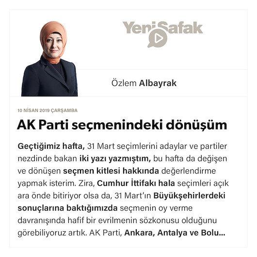 AK Parti seçmenindeki dönüşüm