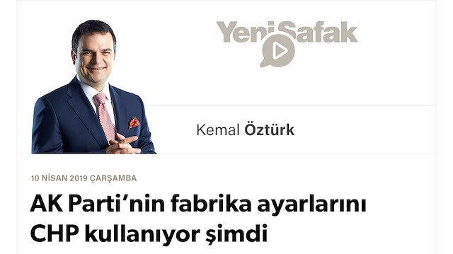 AK Parti'nin fabrika ayarlarını CHP kullanıyor şimdi