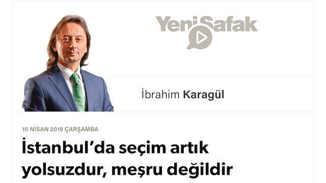 """* İstanbul'da seçim artık yolsuzdur, meşru değildir * Şu ana kadar tespit edilen """"hırsızlık"""" bile seçimin iptali için yeterli kanıt sunuyor. * YSK bu tehlikeyi görmeli. * Seçim yeniden yapılmalı."""