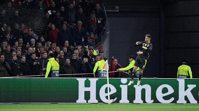 Cristiano Ronaldo, Ajax karşısında Şampiyonlar Ligi'nde 125. golünü attı.