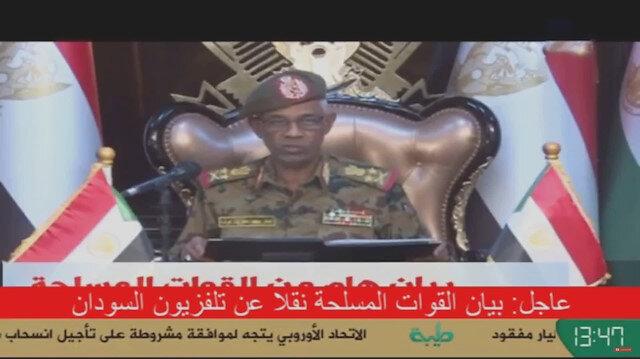 Sudan Savunma Bakanı Yüksek Askeri Konseyin yönetime el koyduğunu açıkladı