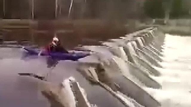 Barajdan kanoyla geçmeye kalkınca canından oldu